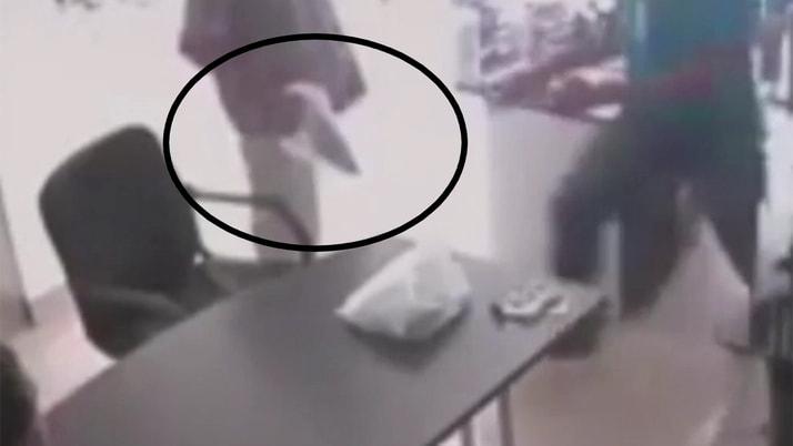 Kolombiya'da muzla soygun girişimi anları kamerada