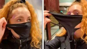 Korona maskesini evde unutunca külodunu yüzüne geçirdi