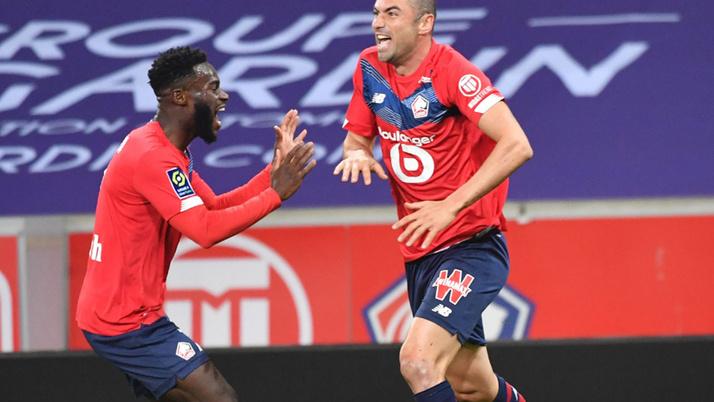 Burak Yılmaz ve Yusuf Yazıcı attı, Lille Lens'i 4-0 yendi