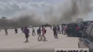 Yemen'de yeni kabine üyelerini taşıyan uçağın inişi sırasında şiddetli patlama