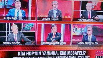 CNN Türk Hulki Cevizoğlu ile Altan Tan birbirine girdi Ahmet Hakan küplere bindi